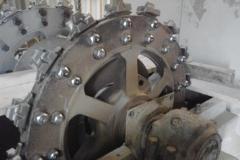 Wechsel von Antrieb und Förderbechern beim Silobecherwerk bei Holcim Westzement Beckum - Schrader Montage GmbH Beckum