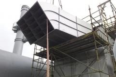 Entkernung des Westflügels vom Suvretta House in St. Moritz und Einbau einer 125 Tonnen schweren Stahlkonstruktion
