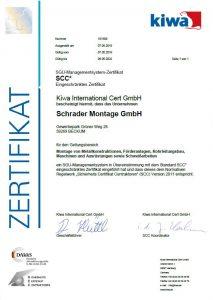 Unser SGU-Managementsystem-Zertifikat SCC (klick!)